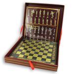 elegancki prezent na dzień dziadka - szachy z mosiądzu