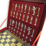 luksusowe, grawerowane szachy z mosiądzu - prezent na dzień chłopaka