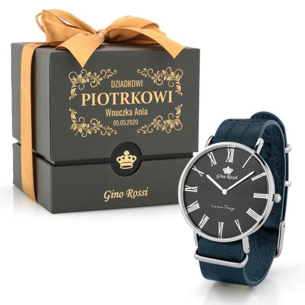 zegarek męski gino rossi ze skórzanym paskiem