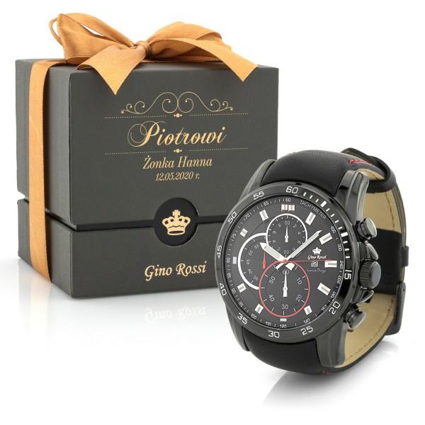 spersonalizowany zegarek Gino Rossi i pudełko na prezent dla niego