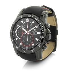 elegancki zegarek Gino Rossi z czarną bransoletą dla niego