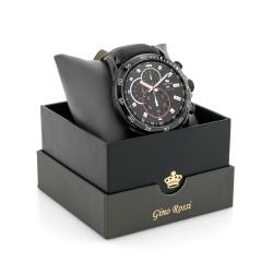pudełko prezentowe i męski zegarek z grawerem