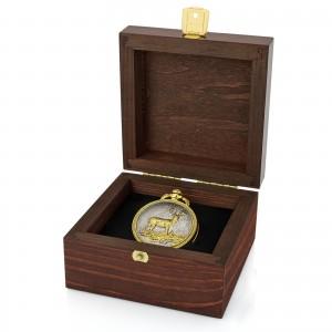 zegarek kieszonkowy w pudełku na prezent dla dziadka na urodziny