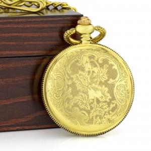 rewers zegarka z arabeską na złotym tle na prezent dla dziadka na mikołajki