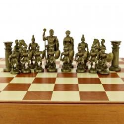 grawerowane szachy rzymskie