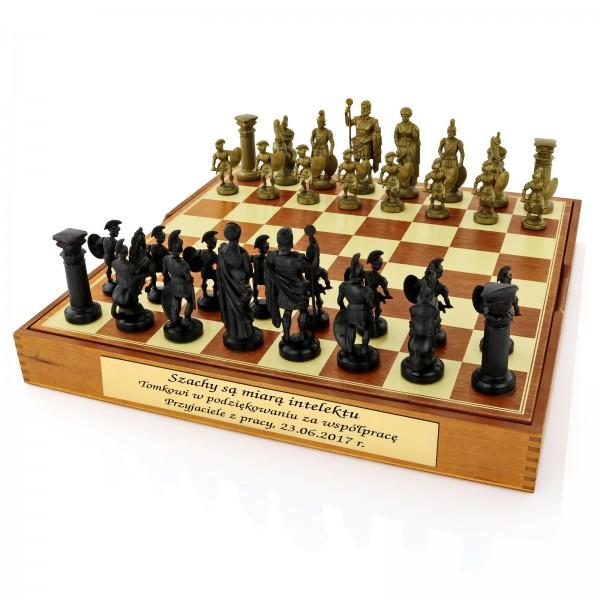 eleganckie szachy na prezent dla emeryta
