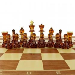personalizowane bursztynowe szachy do gry