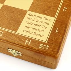szachy z grawerem na prezent dla taty