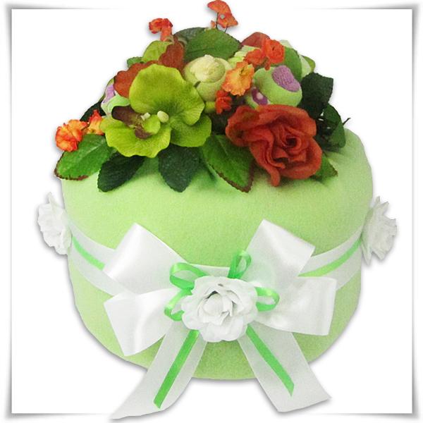 Tort z pampersów zielony