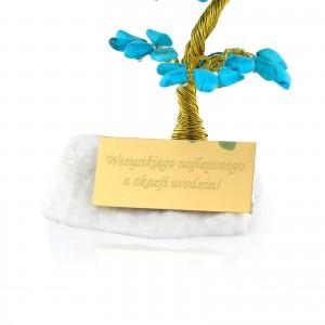 drzewko szczęścia z dedykacją na prezent