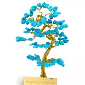 niebieskie drzewko szczęścia z grawerem na prezent dla niej