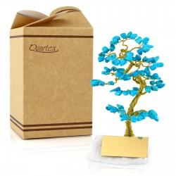 pomysł na prezent drzewko szczęścia niebieskie