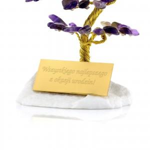 drzewko szczęścia z dedykacją na prezent dla niego