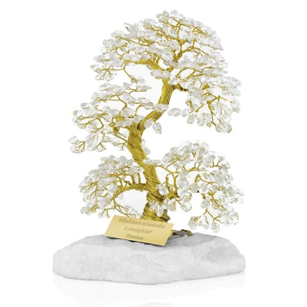 drzewko szczęścia z grawerem dedykacji na oryginalny prezent