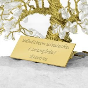 drzewo szczęścia z dedykacją na wyjątkowy prezent