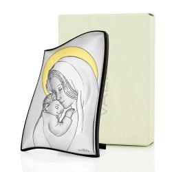 oryginalny prezent na chrzest obrazek srebrny z dedykacją