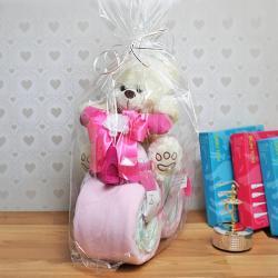 motor z pieluszek na prezent dla dziewczynki