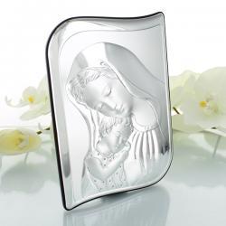 srebrny obrazek Matka Boska i dzieciątko