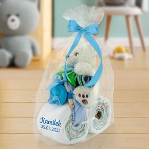 prezent dla dziecka z pampersów