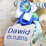 haftowany kocyk na prezent