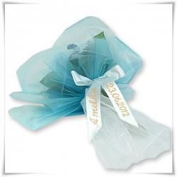 bukiet z ubranek niemowlęcych na chrzest