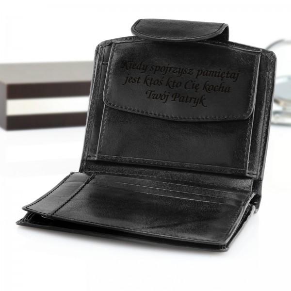 portfel damski z grawerem