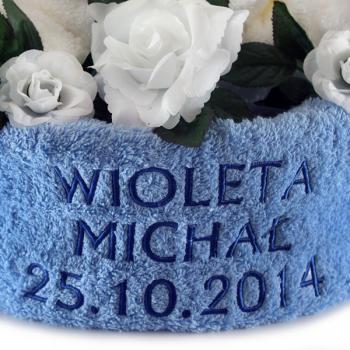 Zestaw ręczników z haftem