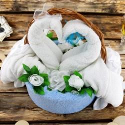 ręczniki łabędzie na prezent dla pary młodej