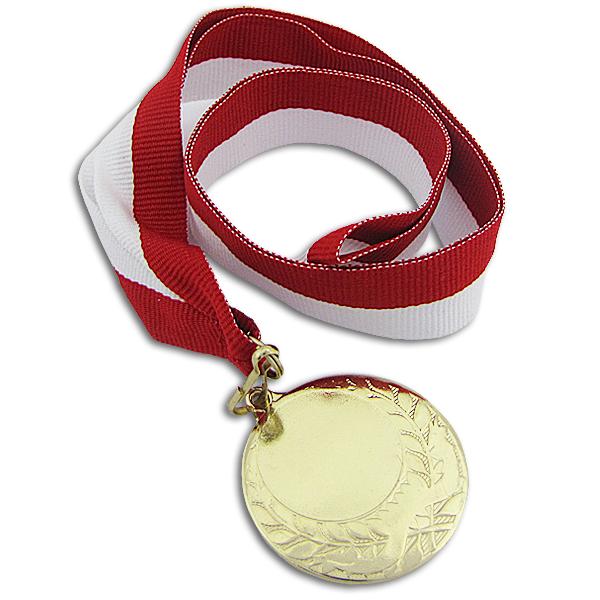 złoty medal z dedykacją