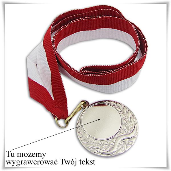 srebrny medal z grawerem