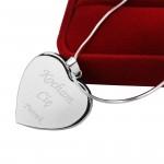 naszyjnik serce z grawerem