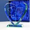 statuetka serce ze szkła na podziękowanie dla rodziców