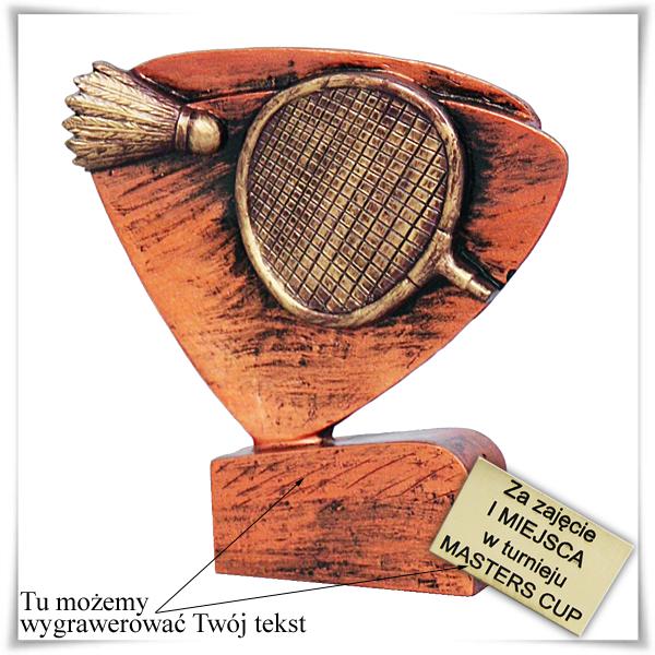 Statuetka odlewana Badminton