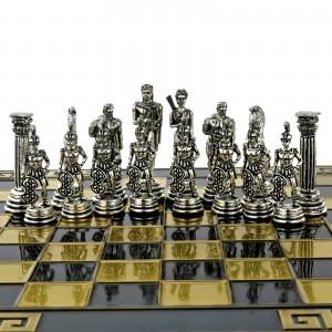 szachy mosiężne do gry z grawerem tekstu