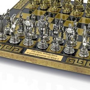 eleganckie szachy z grawerem na prezent