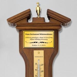 barometr higrometr z grawerem na prezent