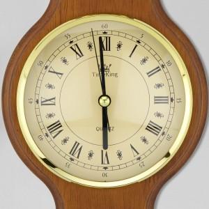 zegar drewniany ścienny z grawerem