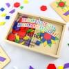 puzzle dla dzieci drewnianej w skrzynce kolorowe układanki