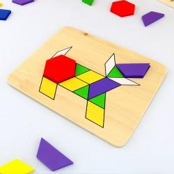 układanka dla dzieci z drewnianych puzzli