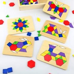 układanki drewniane dla dzieci mozaika