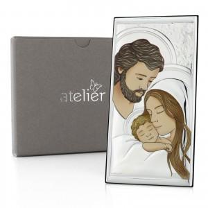 prezent z okazji chrztu srebrny obrazek święta rodzina