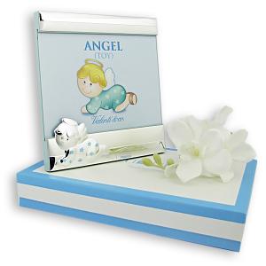 Ramka prezent dla chłopca z okazji chrztu