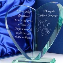 srebrna statuetka na prezent na chrzest