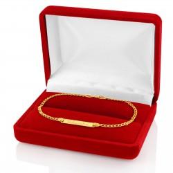 bransoletka z grawerem w pudełeczku na prezent na chrzest
