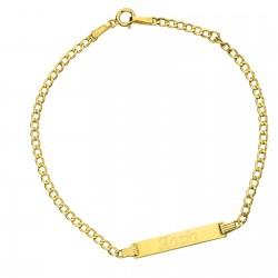 złota bransoletka z grawerem