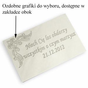tabliczka z dedykacją