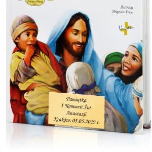 prezent na komunię biblia z dedykacją życzeń
