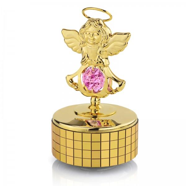 pozytywka aniołek swarovski z kryształem