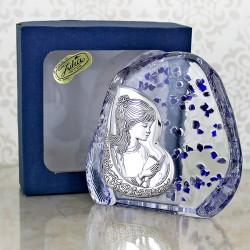 srebrny obrazek pamiątka komunijna dzieewczynki