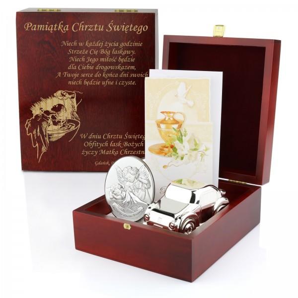 zestaw prezentowy z grawerem na pamiątkę chrztu